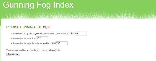Gunning fox index