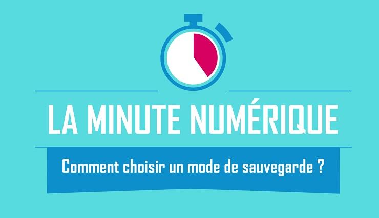 La Minute Numérique - Choisir un mode de sauvegarde