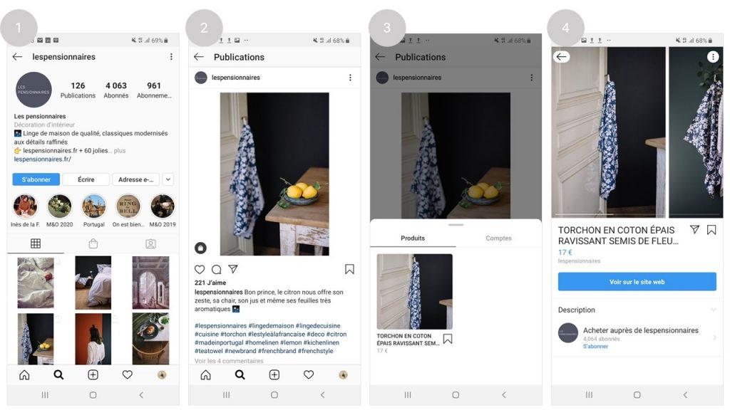 vendre ses produits sur instagram shopping