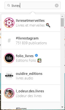 recherche influenceurs livres instagram