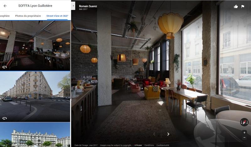 Visite virtuelle café restaurant