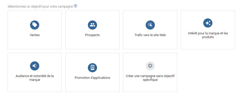 objectifs Google Ads